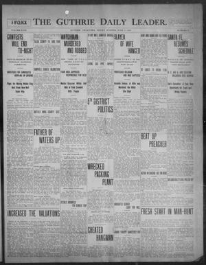 Primary view of object titled 'The Guthrie Daily Leader. (Guthrie, Okla.), Vol. 31, No. 25, Ed. 1, Friday, June 12, 1908'.