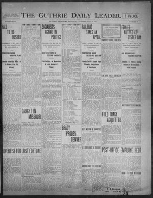 Primary view of object titled 'The Guthrie Daily Leader. (Guthrie, Okla.), Vol. 31, No. 38, Ed. 1, Saturday, June 27, 1908'.