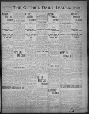 Primary view of object titled 'The Guthrie Daily Leader. (Guthrie, Okla.), Vol. 31, No. 39, Ed. 1, Monday, June 29, 1908'.