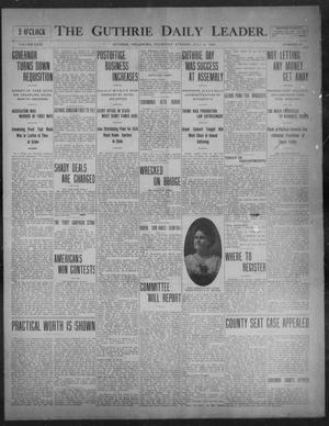 Primary view of object titled 'The Guthrie Daily Leader. (Guthrie, Okla.), Vol. 31, No. 53, Ed. 1, Thursday, July 16, 1908'.