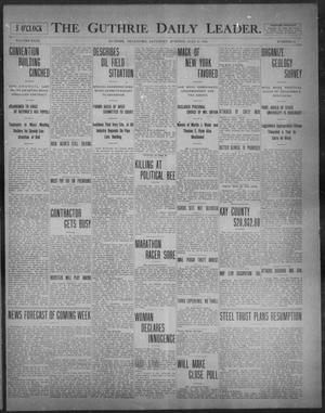 Primary view of object titled 'The Guthrie Daily Leader. (Guthrie, Okla.), Vol. 31, No. 61, Ed. 1, Saturday, July 25, 1908'.