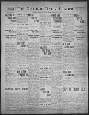 Primary view of object titled 'The Guthrie Daily Leader. (Guthrie, Okla.), Vol. 31, No. 64, Ed. 1, Wednesday, July 29, 1908'.