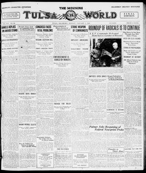 Primary view of object titled 'The Morning Tulsa Daily World (Tulsa, Okla.), Vol. 14, No. 99, Ed. 1, Monday, January 5, 1920'.