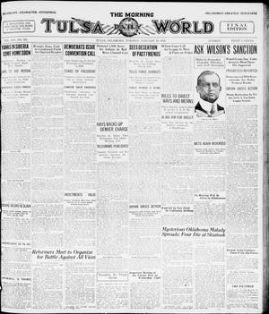 Primary view of object titled 'The Morning Tulsa Daily World (Tulsa, Okla.), Vol. 14, No. 107, Ed. 1, Tuesday, January 13, 1920'.