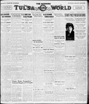 Primary view of object titled 'The Morning Tulsa Daily World (Tulsa, Okla.), Vol. 14, No. 110, Ed. 1, Friday, January 16, 1920'.