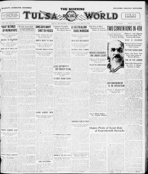 Primary view of object titled 'The Morning Tulsa Daily World (Tulsa, Okla.), Vol. 14, No. 111, Ed. 1, Saturday, January 17, 1920'.