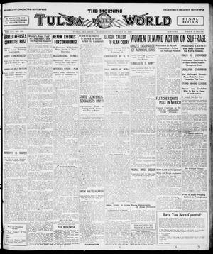 Primary view of object titled 'The Morning Tulsa Daily World (Tulsa, Okla.), Vol. 14, No. 123, Ed. 1, Wednesday, January 28, 1920'.