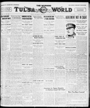 Primary view of object titled 'The Morning Tulsa Daily World (Tulsa, Okla.), Vol. 14, No. 124, Ed. 1, Thursday, January 29, 1920'.