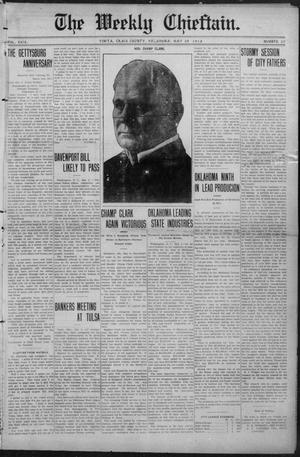 Primary view of object titled 'The Weekly Chieftain. (Vinita, Okla.), Vol. 29, No. 37, Ed. 1 Friday, May 10, 1912'.
