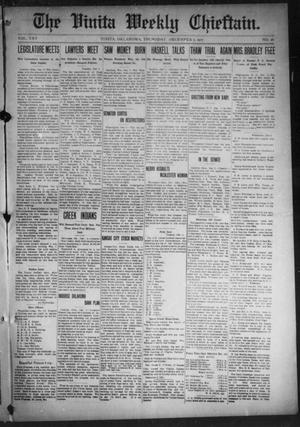 Primary view of object titled 'The Vinita Weekly Chieftain. (Vinita, Okla.), Vol. 25, No. 26, Ed. 1 Thursday, December 5, 1907'.