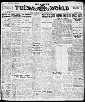 Primary view of object titled 'The Morning Tulsa Daily World (Tulsa, Okla.), Vol. 14, No. 128, Ed. 1, Monday, February 2, 1920'.