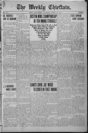 Primary view of object titled 'The Weekly Chieftain. (Vinita, Okla.), Vol. 30, No. 8, Ed. 1 Friday, October 18, 1912'.