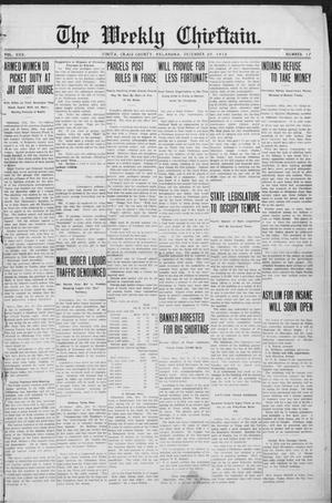Primary view of object titled 'The Weekly Chieftain. (Vinita, Okla.), Vol. 30, No. 17, Ed. 1 Friday, December 20, 1912'.