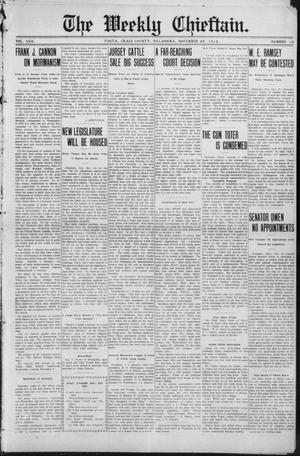 Primary view of object titled 'The Weekly Chieftain. (Vinita, Okla.), Vol. 30, No. 14, Ed. 1 Friday, November 29, 1912'.