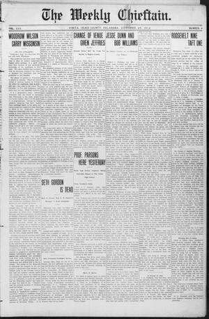 Primary view of object titled 'The Weekly Chieftain. (Vinita, Okla.), Vol. 30, No. 4, Ed. 1 Friday, September 20, 1912'.