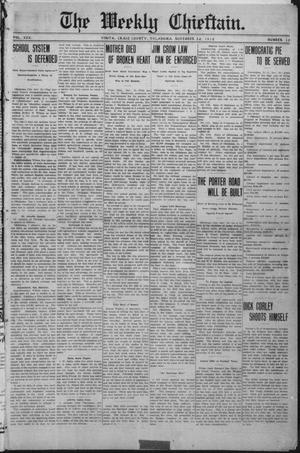 Primary view of object titled 'The Weekly Chieftain. (Vinita, Okla.), Vol. 30, No. 13, Ed. 1 Friday, November 22, 1912'.