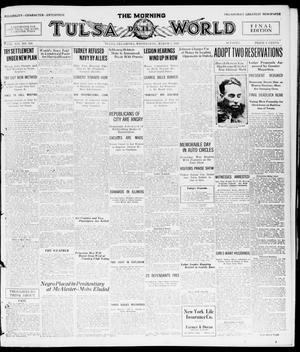 Primary view of object titled 'The Morning Tulsa Daily World (Tulsa, Okla.), Vol. 14, No. 158, Ed. 1, Wednesday, March 3, 1920'.