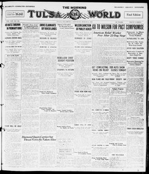 Primary view of object titled 'The Morning Tulsa Daily World (Tulsa, Okla.), Vol. 14, No. 161, Ed. 1, Saturday, March 6, 1920'.