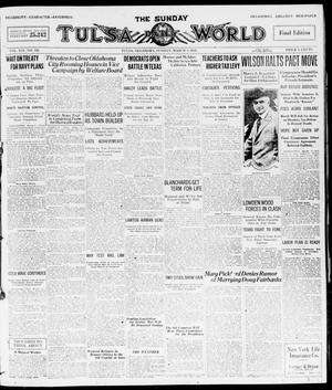 Primary view of object titled 'The Sunday Tulsa Daily World (Tulsa, Okla.), Vol. 14, No. 162, Ed. 1, Sunday, March 7, 1920'.