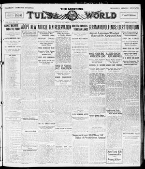 Primary view of object titled 'The Morning Tulsa Daily World (Tulsa, Okla.), Vol. 14, No. 171, Ed. 1, Tuesday, March 16, 1920'.