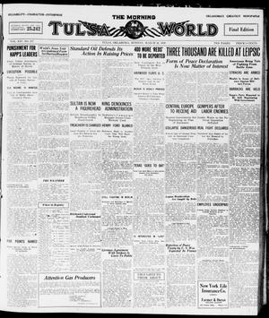 Primary view of object titled 'The Morning Tulsa Daily World (Tulsa, Okla.), Vol. 14, No. 177, Ed. 1, Monday, March 22, 1920'.