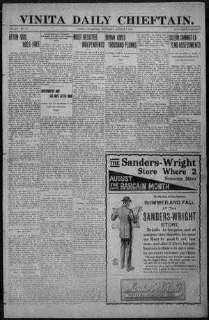 Primary view of Vinita Daily Chieftain. (Vinita, Okla.), Vol. 14, No. 82, Ed. 1 Thursday, August 1, 1912