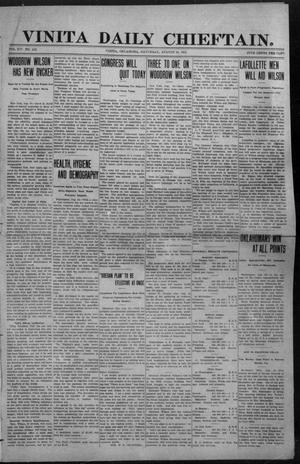 Primary view of object titled 'Vinita Daily Chieftain. (Vinita, Okla.), Vol. 14, No. 102, Ed. 1 Saturday, August 24, 1912'.