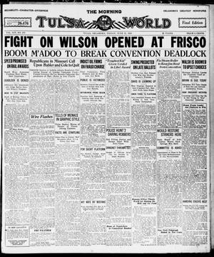 Primary view of The Morning Tulsa Daily World (Tulsa, Okla.), Vol. 14, No. 272, Ed. 1, Friday, June 25, 1920