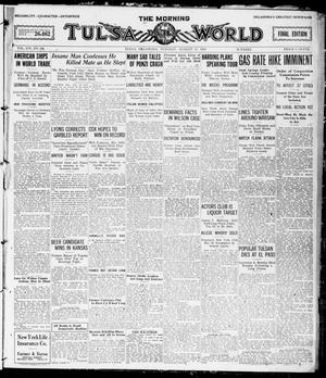 Primary view of object titled 'The Morning Tulsa Daily World (Tulsa, Okla.), Vol. 14, No. 324, Ed. 1, Tuesday, August 17, 1920'.