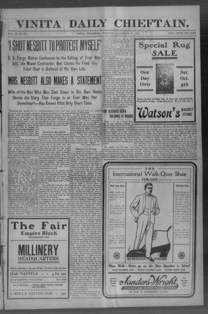 Primary view of Vinita Daily Chieftain. (Vinita, Okla.), Vol. 9, No. 278, Ed. 1 Wednesday, October 2, 1907