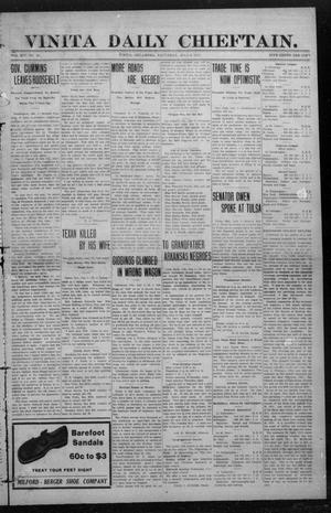 Primary view of object titled 'Vinita Daily Chieftain. (Vinita, Okla.), Vol. 14, No. 60, Ed. 1 Saturday, July 6, 1912'.