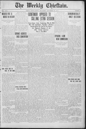 Primary view of object titled 'The Weekly Chieftain. (Vinita, Okla.), Vol. 29, No. 5, Ed. 1 Friday, September 29, 1911'.