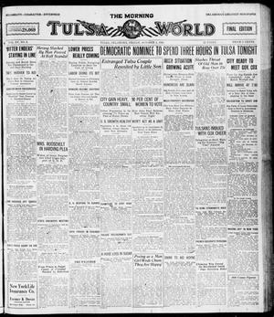 Primary view of object titled 'The Morning Tulsa Daily World (Tulsa, Okla.), Vol. 15, No. 3, Ed. 1, Friday, October 1, 1920'.