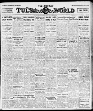 Primary view of object titled 'The Sunday Tulsa Daily World (Tulsa, Okla.), Vol. 15, No. 5, Ed. 1, Sunday, October 3, 1920'.