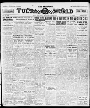 Primary view of object titled 'The Morning Tulsa Daily World (Tulsa, Okla.), Vol. 15, No. 9, Ed. 1, Thursday, October 7, 1920'.