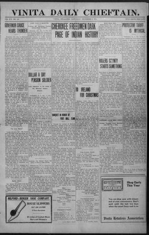 Primary view of object titled 'Vinita Daily Chieftain. (Vinita, Okla.), Vol. 13, No. 195, Ed. 1 Saturday, December 9, 1911'.