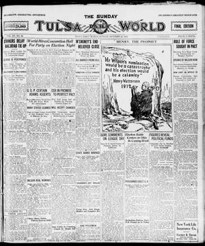 Primary view of object titled 'The Sunday Tulsa Daily World (Tulsa, Okla.), Vol. 15, No. 26, Ed. 1, Sunday, October 24, 1920'.