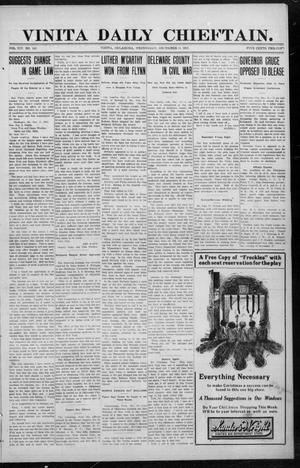 Primary view of object titled 'Vinita Daily Chieftain. (Vinita, Okla.), Vol. 14, No. 192, Ed. 1 Wednesday, December 11, 1912'.
