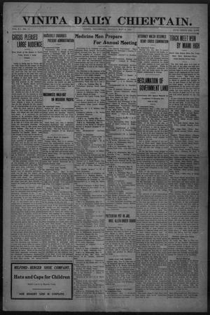 Primary view of object titled 'Vinita Daily Chieftain. (Vinita, Okla.), Vol. 12, No. 11, Ed. 1 Monday, May 2, 1910'.
