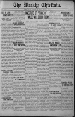 Primary view of object titled 'The Weekly Chieftain. (Vinita, Okla.), Vol. 29, No. 5, Ed. 1 Friday, July 14, 1911'.