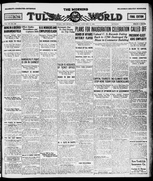 Primary view of object titled 'The Morning Tulsa Daily World (Tulsa, Okla.), Vol. 15, No. 103, Ed. 1, Tuesday, January 11, 1921'.