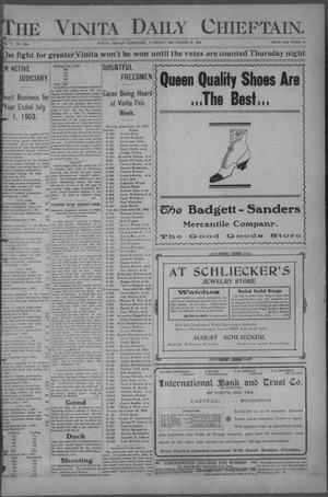 Primary view of The Vinita Daily Chieftain. (Vinita, Indian Terr.), Vol. 5, No. 294, Ed. 1 Tuesday, September 22, 1903
