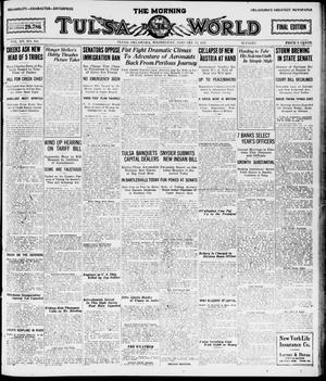 Primary view of object titled 'The Morning Tulsa Daily World (Tulsa, Okla.), Vol. 15, No. 104, Ed. 1, Wednesday, January 12, 1921'.