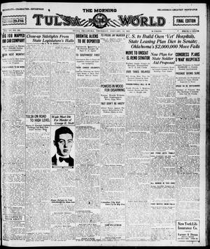 Primary view of object titled 'The Morning Tulsa Daily World (Tulsa, Okla.), Vol. 15, No. 105, Ed. 1, Thursday, January 13, 1921'.