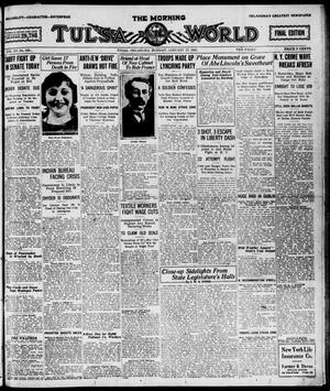 Primary view of object titled 'The Morning Tulsa Daily World (Tulsa, Okla.), Vol. 15, No. 109, Ed. 1, Monday, January 17, 1921'.