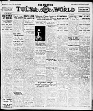 Primary view of object titled 'The Morning Tulsa Daily World (Tulsa, Okla.), Vol. 15, No. 126, Ed. 1, Thursday, February 3, 1921'.