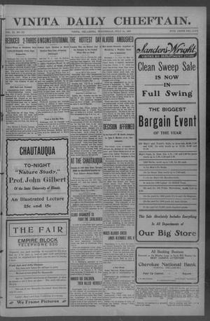 Primary view of Vinita Daily Chieftain. (Vinita, Okla.), Vol. 9, No. 223, Ed. 1 Wednesday, July 24, 1907