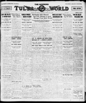 Primary view of object titled 'The Morning Tulsa Daily World (Tulsa, Okla.), Vol. 15, No. 131, Ed. 1, Tuesday, February 8, 1921'.