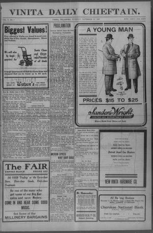 Primary view of Vinita Daily Chieftain. (Vinita, Okla.), Vol. 10, No. 7, Ed. 1 Tuesday, November 19, 1907