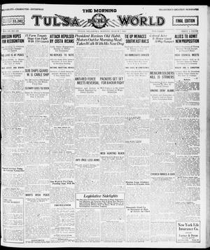 Primary view of object titled 'The Morning Tulsa Daily World (Tulsa, Okla.), Vol. 15, No. 158, Ed. 1, Monday, March 7, 1921'.